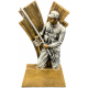 Statyett av en duktig fiskare i guld